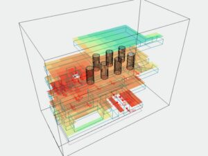 PA system in oil rig model