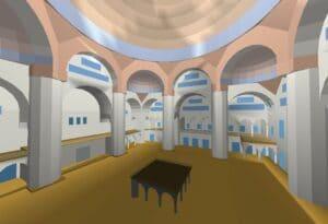 model 3d sali koncertowej