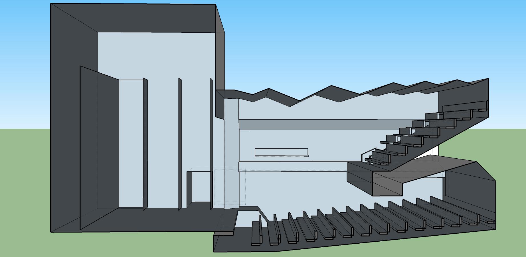 concert hall 3d model
