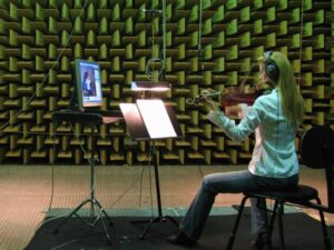 recording violin in anechoic chamber