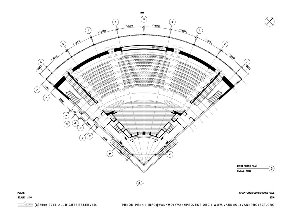 fan shaped concert hall