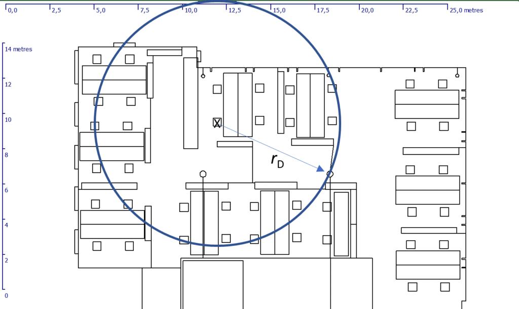 open plan office sketch