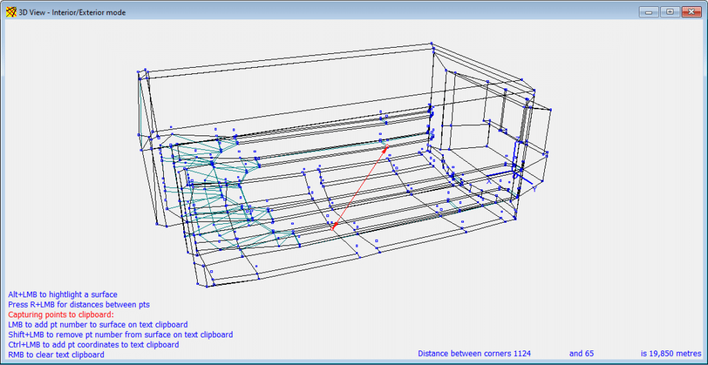 Ruler functionality in the 3DView