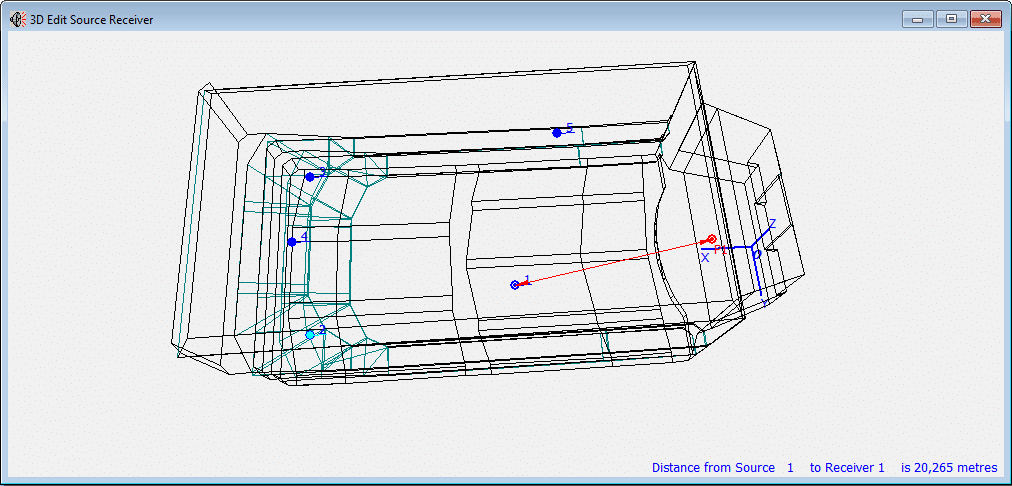 Ruler functionality in 3D Edit Source Receiver view