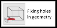 Fixing holes in geometry