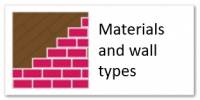 Materials and wall types