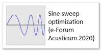 Sine sweep optimization (e-Forum Acusticum)